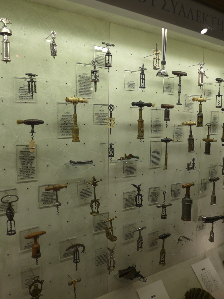 Corkscrews in the collection of Gerovassiliou winery