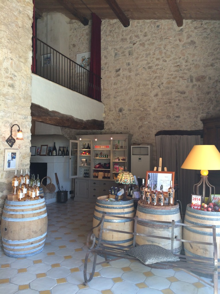 Tasting room at Château Margilliere