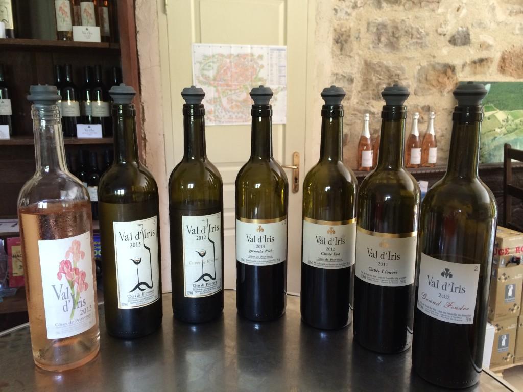 Wines at Val d'Iris