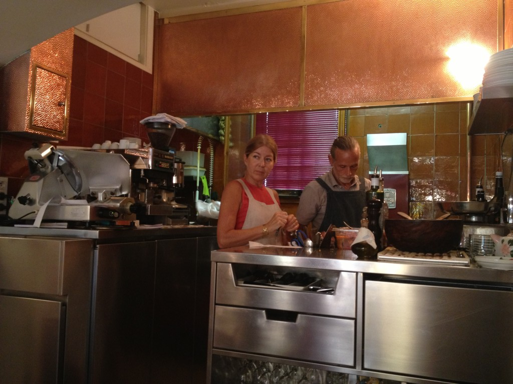 Small open family kitchen at La Merenda