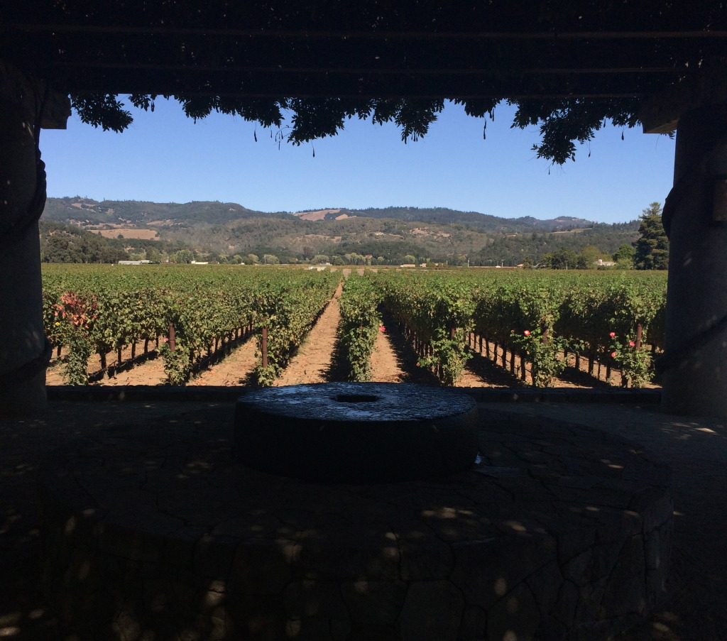 Vineyards at the Heitz winery in Napa