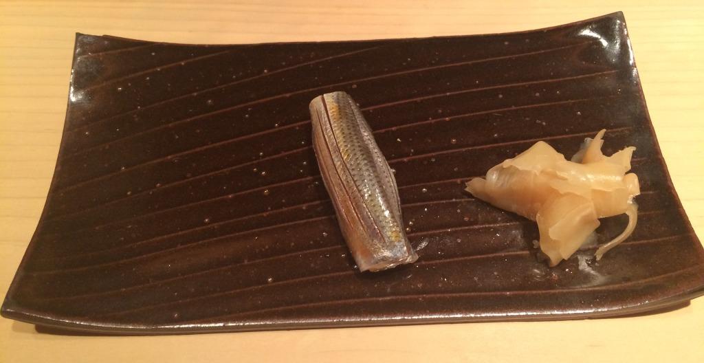 Mackerel sushi at Yoshitake