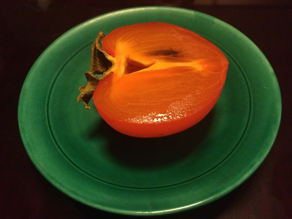 Sasonal fruit: Daishiro persimmon splashed with brandy