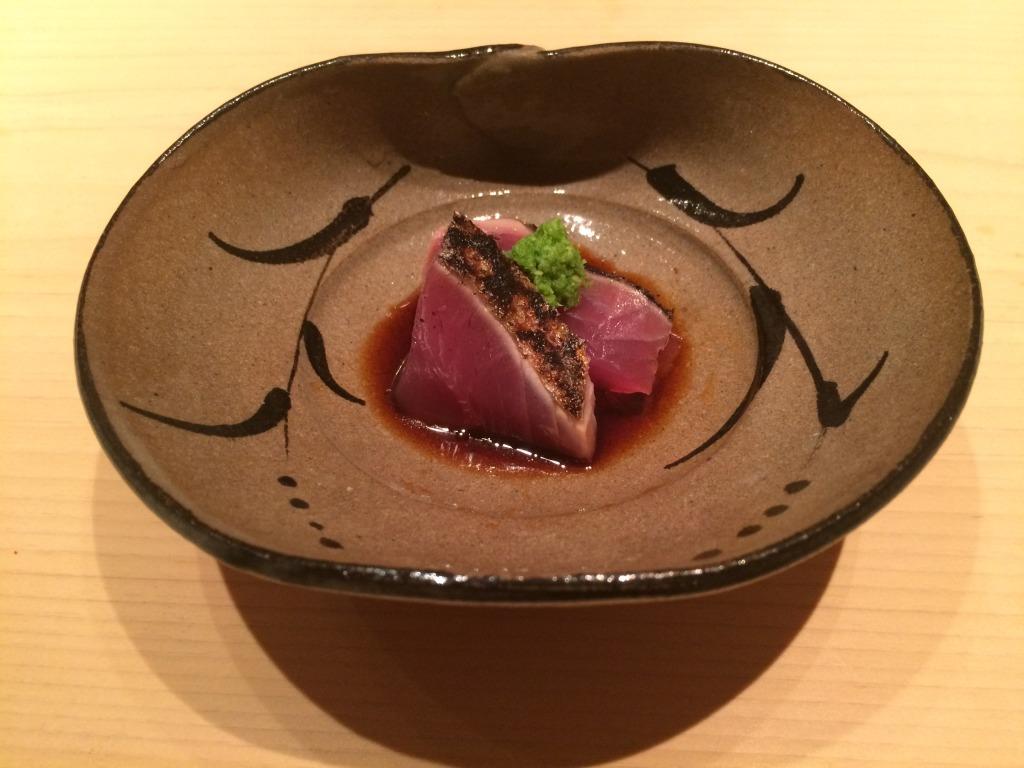 Smoked bonito tuna at Yoshitake sushi