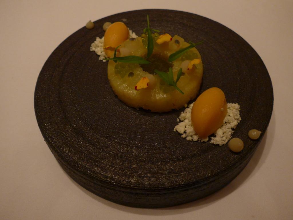 Pineapple dessert at Amber