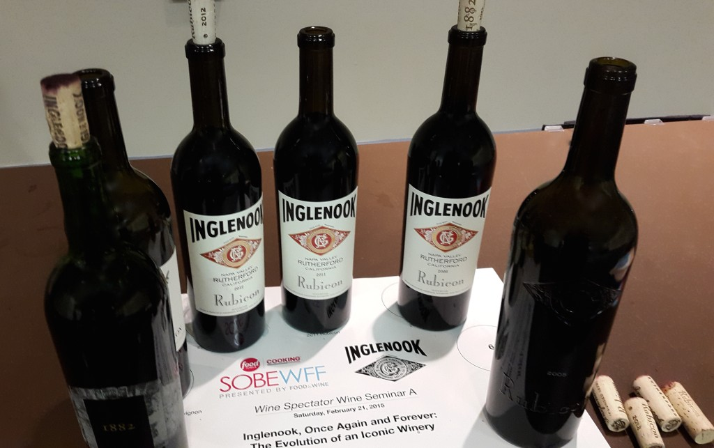 Napa Valley Inglenook Cabernets at SOBEWFF 2015