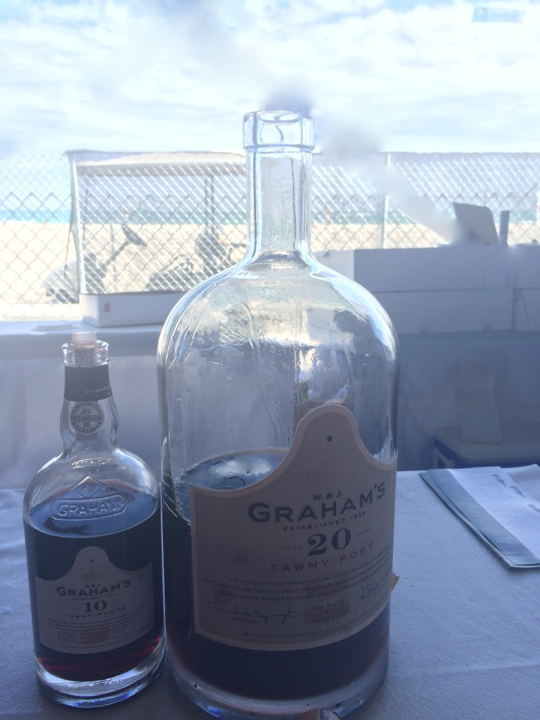 Gigantic bottle of Graham's Port at SOBEWFF