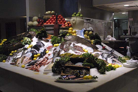 Fresh seafood selection